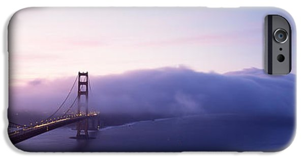 Connection iPhone Cases - Bridge Across The Sea, Golden Gate iPhone Case by Panoramic Images