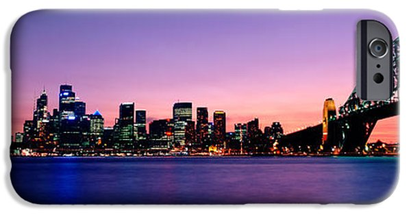 Recently Sold -  - Connection iPhone Cases - Bridge Across The Sea, Sydney Opera iPhone Case by Panoramic Images