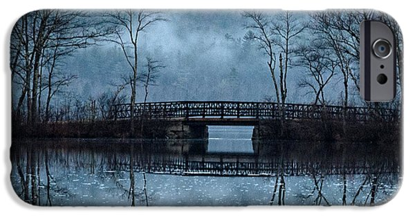 Mt Chocorua iPhone Cases - Bridge at Chocorua iPhone Case by Sharon Seaward