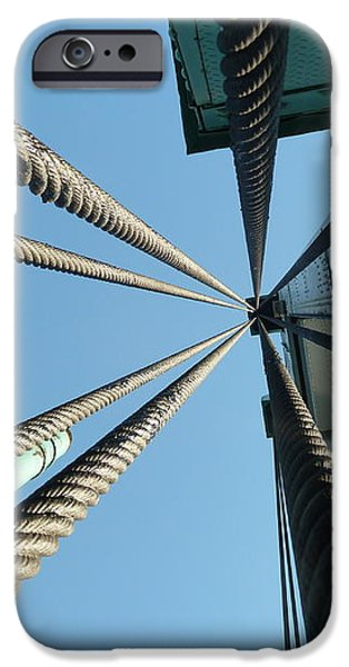 Bridge cables iPhone Case by Kenneth Summers