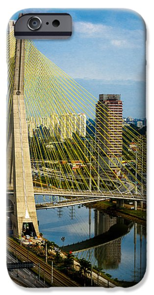 A Hot Summer Day iPhone Cases - Bridge in Sao Paulo iPhone Case by Daniel Precht