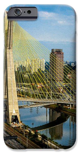 Bridge in Sao Paulo iPhone Case by Daniel Precht