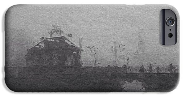 Fog Mist Mixed Media iPhone Cases - Bridge in the fog iPhone Case by Stefan Kuhn