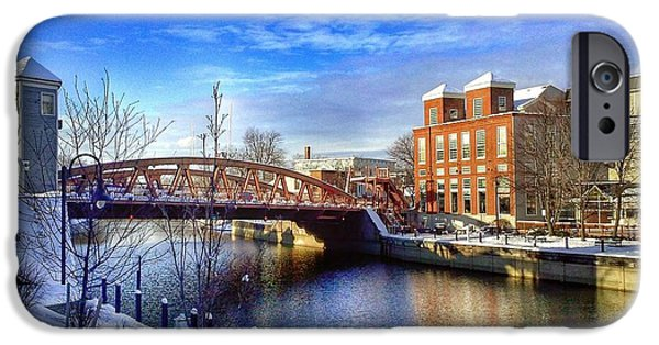 Recently Sold -  - Winter iPhone Cases - Bridge in Winter iPhone Case by Dan Charchalis