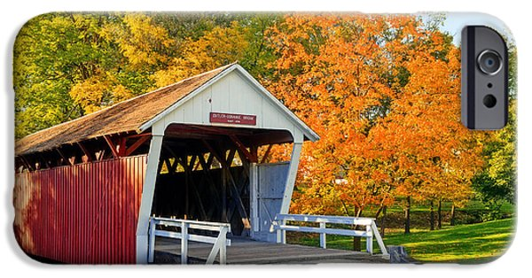 Recently Sold -  - Covered Bridge iPhone Cases - Bridge of Madison County iPhone Case by Sennie Pierson