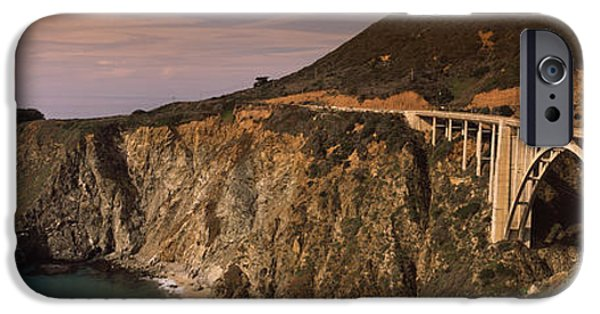 Big Sur iPhone Cases - Bridge On A Hill, Bixby Bridge, Big iPhone Case by Panoramic Images