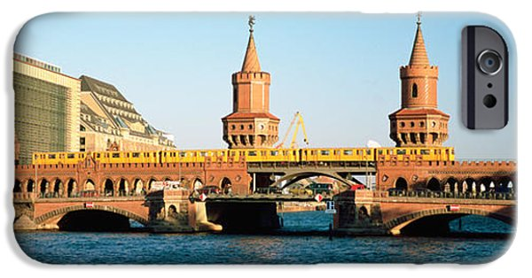 Connection iPhone Cases - Bridge On A River, Oberbaum Brucke iPhone Case by Panoramic Images
