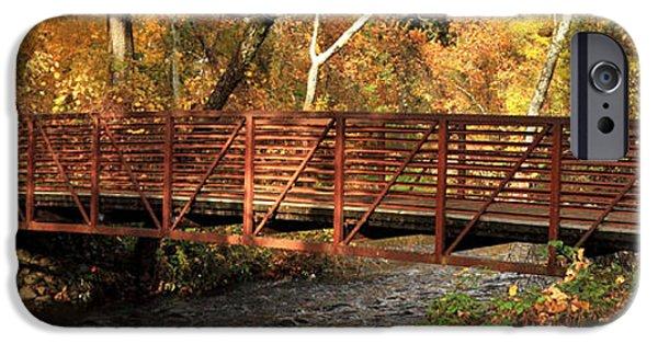 Chico iPhone Cases - Bridge On Big Chico Creek iPhone Case by James Eddy
