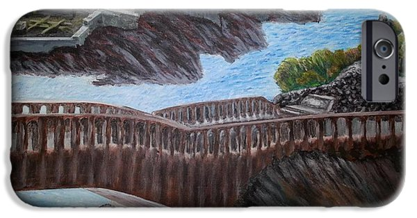 Power iPhone Cases - Bridge On The Beach In Biarritz iPhone Case by Irving Starr