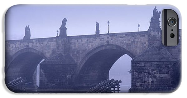 Charles River iPhone Cases - Bridge Over A River, Charles Bridge iPhone Case by Panoramic Images