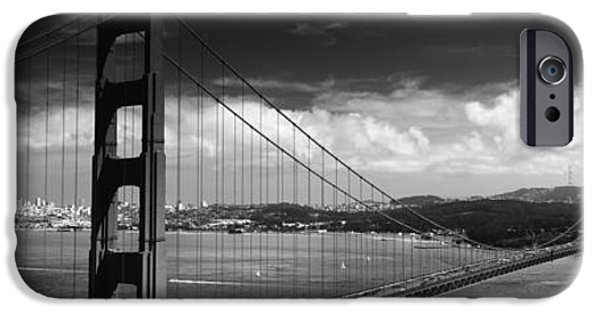 Connection iPhone Cases - Bridge Over A River, Golden Gate iPhone Case by Panoramic Images