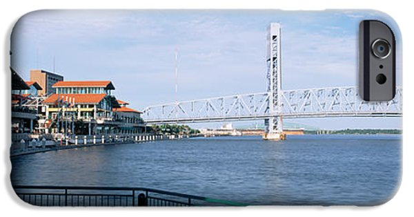 St. Johns River iPhone Cases - Bridge Over A River, Main Street, St iPhone Case by Panoramic Images
