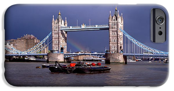 Connection iPhone Cases - Bridge Over A River, Tower Bridge iPhone Case by Panoramic Images