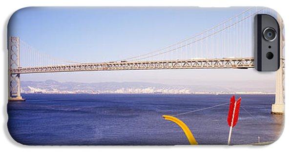 Bay Bridge iPhone Cases - Bridge Over An Inlet, Bay Bridge, San iPhone Case by Panoramic Images