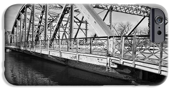 River Flooding iPhone Cases - Bridge over Flooding River iPhone Case by Donald  Erickson