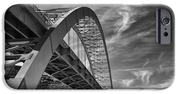 Fine Art Photography iPhone Cases - Bridge Over Roosevelt Lake iPhone Case by Jesse Castellano