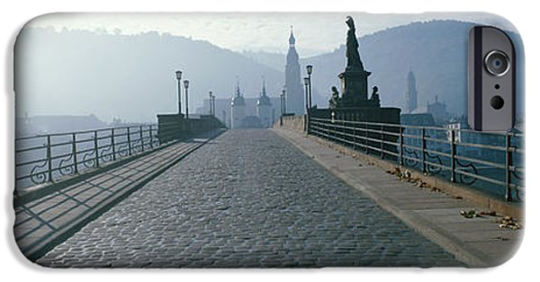 Mist iPhone Cases - Bridge Over The Neckar River iPhone Case by Panoramic Images