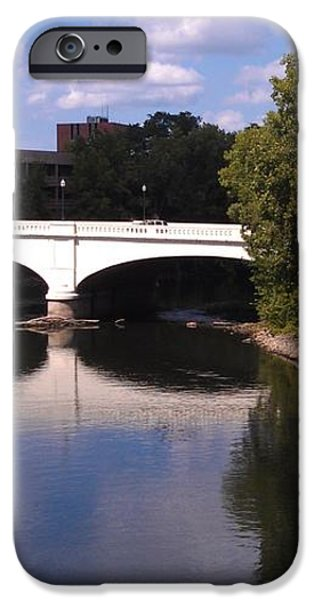 Bridge over the St. Joseph River  --  South Bend iPhone Case by Anna Lisa Yoder