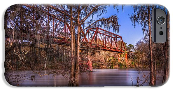 Country Dirt Roads iPhone Cases - Bridge Over Trouble Water iPhone Case by Marvin Spates