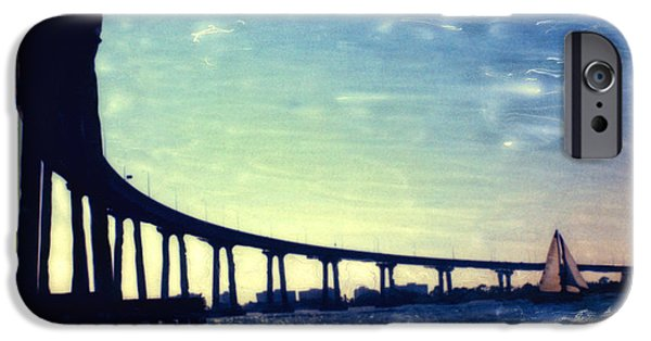 Bay Bridge Mixed Media iPhone Cases - Bridge Shadow iPhone Case by Glenn McNary