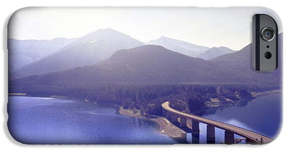 Pathway iPhone Cases - Bridge Sylvenstein Lake Germany iPhone Case by Panoramic Images