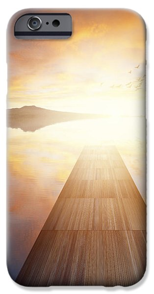 Pathway iPhone Cases - Path to freedom iPhone Case by Les Cunliffe