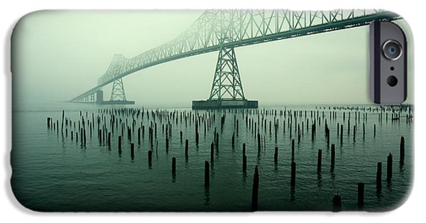 Fog iPhone Cases - Bridge to Nowhere iPhone Case by Todd Klassy