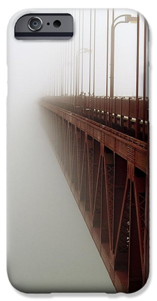 Bill Gallagher iPhone Cases - Bridge to Obscurity iPhone Case by Bill Gallagher
