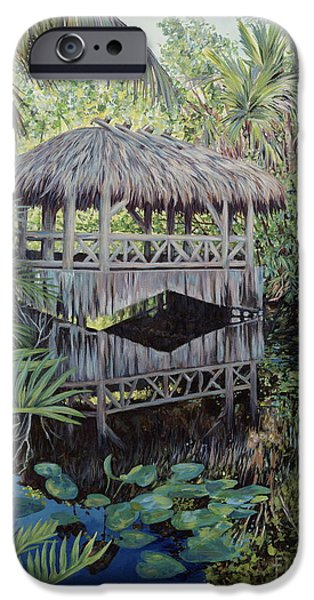 Bamboo House iPhone Cases - Bridge to Paradise iPhone Case by Danielle  Perry