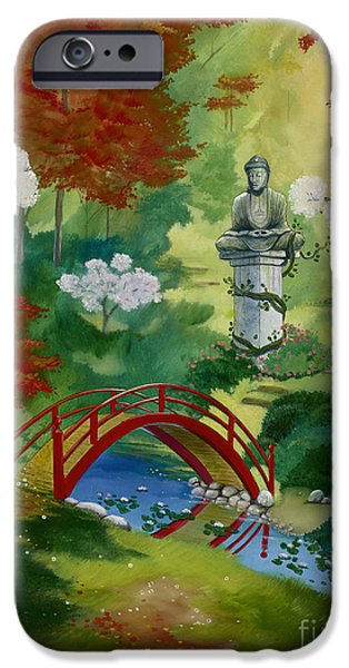 Lanscape iPhone Cases - Bridge To Serenity  iPhone Case by Bill Shelton
