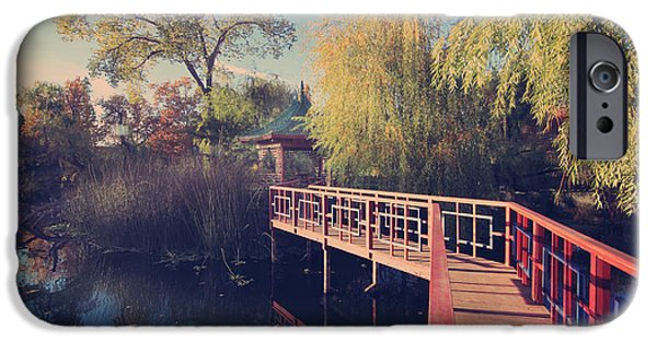 Chateau iPhone Cases - Bridge to Zen iPhone Case by Laurie Search