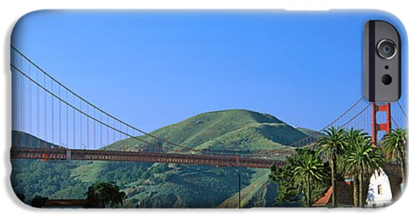 Built Structure iPhone Cases - Bridge Viewed From A Park, Golden Gate iPhone Case by Panoramic Images
