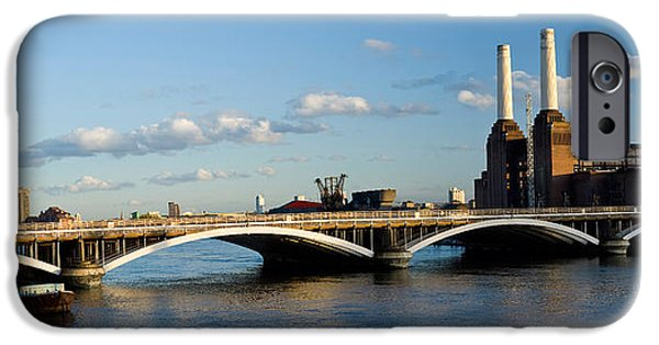 Power iPhone Cases - Bridge With Battersea Power Station iPhone Case by Panoramic Images