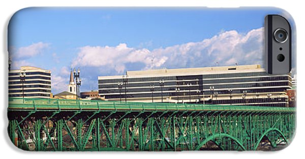 Tennessee River iPhone Cases - Bridge With Buildings iPhone Case by Panoramic Images