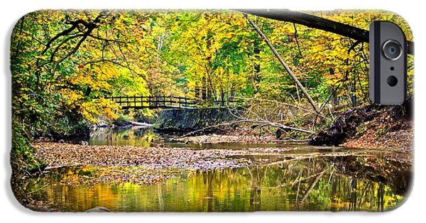 Oak Creek iPhone Cases - Bridges Current and Future iPhone Case by Frozen in Time Fine Art Photography