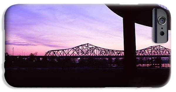 Connection iPhone Cases - Bridges In A City At Dusk, Louisville iPhone Case by Panoramic Images