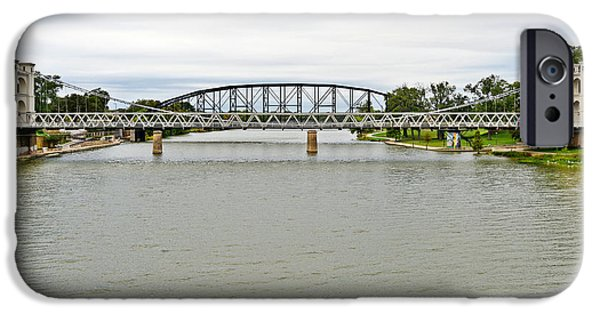 Cable iPhone Cases - Bridges in Waco TX iPhone Case by Christine Till