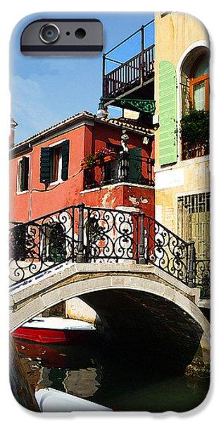 History Channel iPhone Cases - Bridges of Venice iPhone Case by Irina Sztukowski
