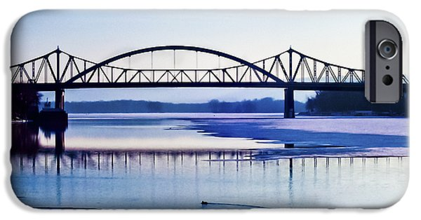 Christi Kraft iPhone Cases - Bridges over the Mississippi iPhone Case by Christi Kraft