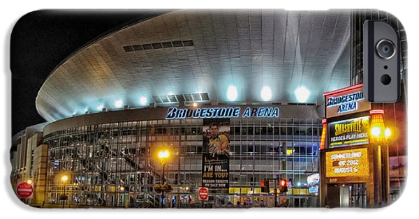 Nashville Architecture iPhone Cases - Bridgestone Arena - Nashville iPhone Case by Mountain Dreams