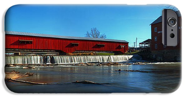 Covered Bridge iPhone Cases - Bridgeton Mill and Bridge iPhone Case by Thomas Sellberg
