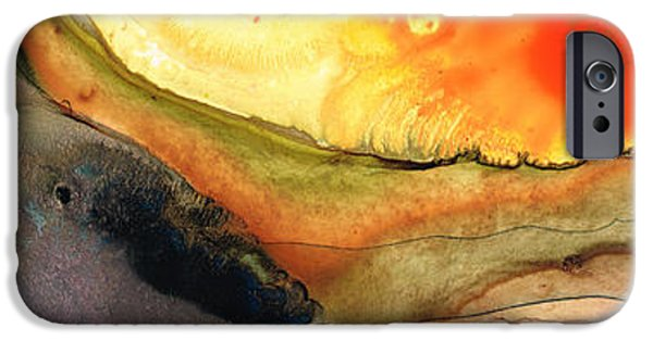 Contemporary Abstract iPhone Cases - Bridging The Gap iPhone Case by Sharon Cummings