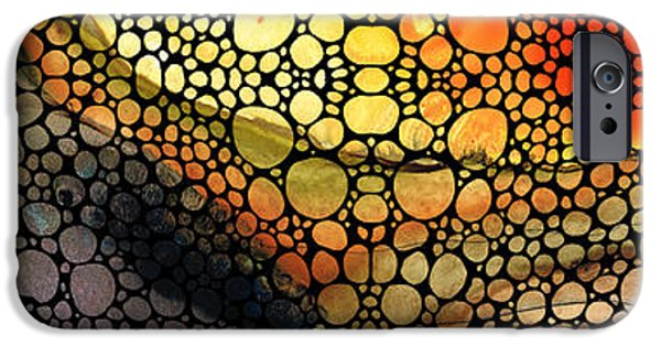 Earth Tone iPhone Cases - Bridging The Gap - Stone Rockd Art Print iPhone Case by Sharon Cummings