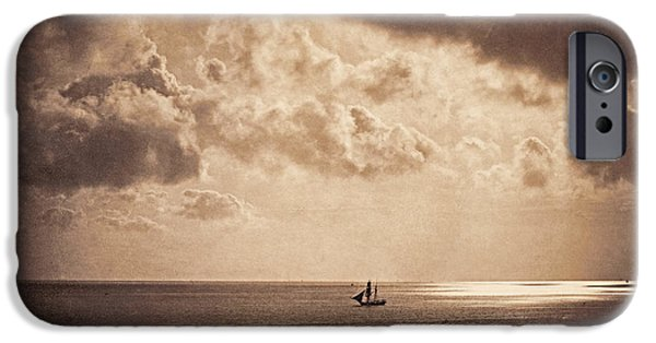 Brig iPhone Cases - Brig upon the Water iPhone Case by Gustave Le Gray