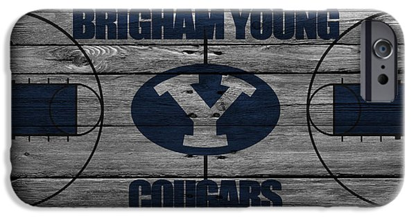 Young Photographs iPhone Cases - Brigham Young Cougars iPhone Case by Joe Hamilton