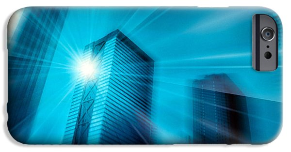 Radiating Light iPhone Cases - Bright Ball Of Light Radiating Rays iPhone Case by Panoramic Images