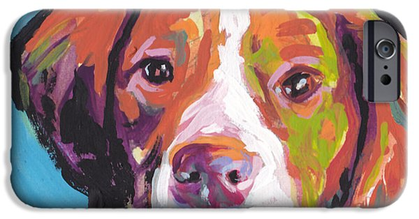 Pup iPhone Cases - Bright Brit iPhone Case by Lea