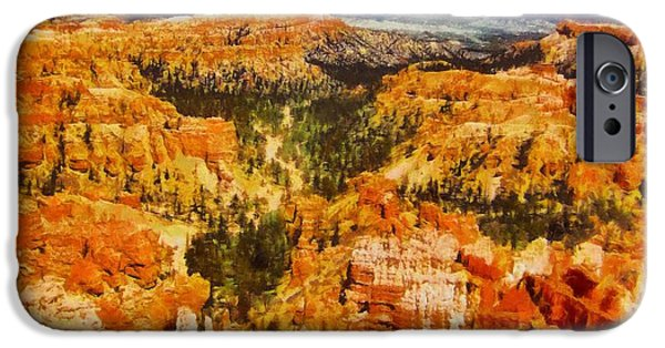 Clouds Pastels iPhone Cases - Bright Bryce Canyon iPhone Case by Dan Sproul