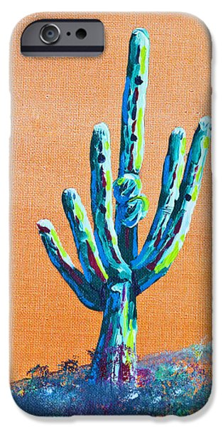 Bright Cactus iPhone Case by Greg Wells