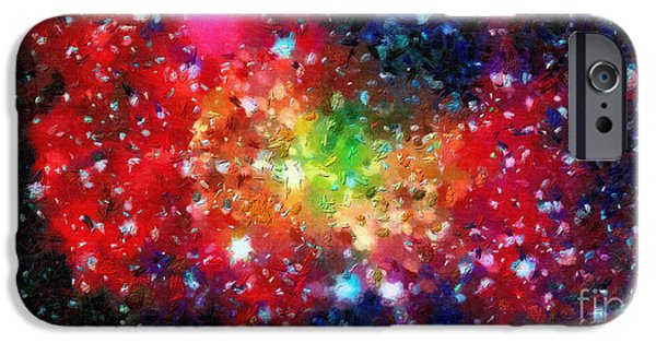 Outer Space Paintings iPhone Cases - Bright clouds in outer space iPhone Case by Magomed Magomedagaev